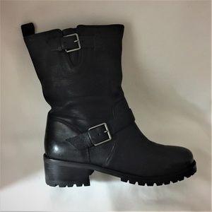 Cole Haan Hemlock Leather Moto Boots - Size 7.5